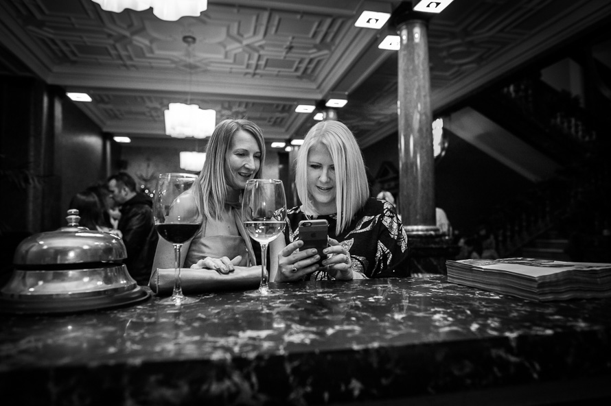 female guests in reception cathedral quarter hotel