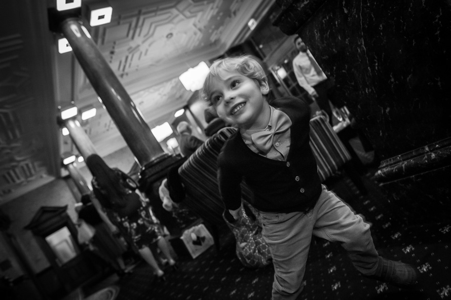 boy playing at wedding cathedral quarter hotel