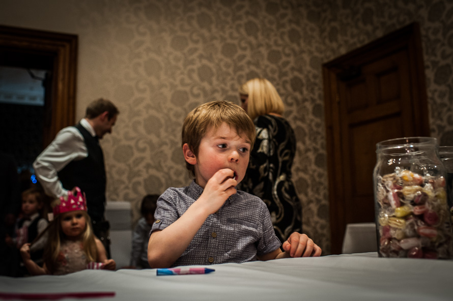 child looking at sweet jar cathedral quarter hotel 1