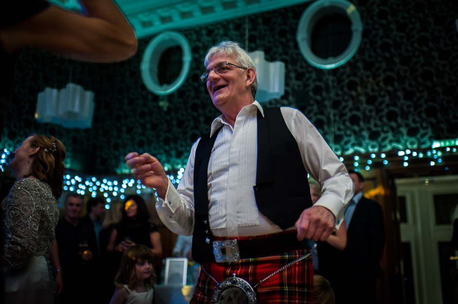 father of the bride dancing at the cathedral quarter hotel