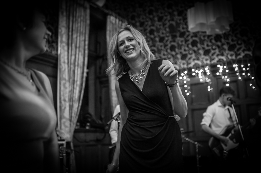 female guest dancing at cathedral quarter hotel