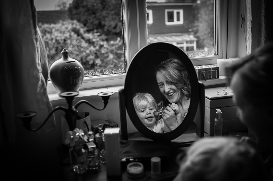 bride with child